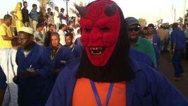 maskiertendemo in mauretanien