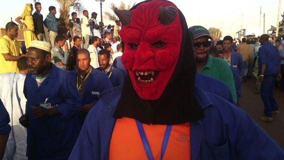 maskiertendemo mauretanien