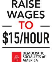 Kampagnenplakat Mindestlohn USA