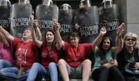 Demo gegen Armut in Athen