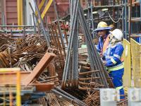 Bauarbeiter von Eskom Subunternehmen