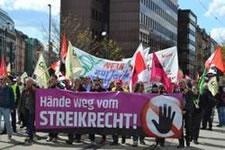 Demo am 18. April 2015 in Frankfurt gegen das geplante Gesetz zur Tarifeinheit, Bild von Jakob Schäfer