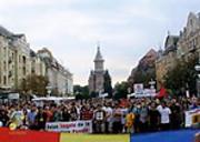 Demonstration gegen Goldmine Bukarest 2014