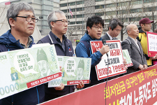 Vor dem Streik in Seoul