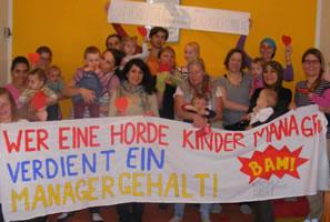 """Solidarität mit dem Kitastreik: """"Wer eine Horde Kinder managt, verdient ein Managergehalt!"""""""