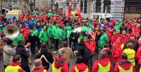 Auftaktkundgebung zur belgischen Protestwoche