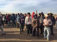 Streikende Landarbeiter in Baja California