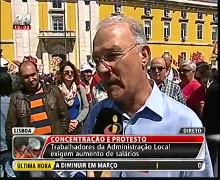 Protest gegen Austerität in Lissabon