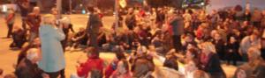 Tuzla Protestversammlung