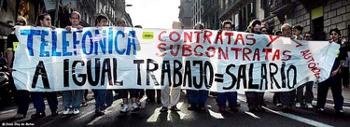 Protest Telefonicastreik