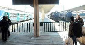 Züge stehen in Tunis