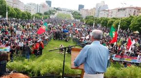 Maikundgebung Lissabon