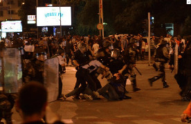 Polizeieinsatz in Skopje