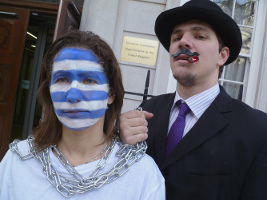 Banker gegen Griechenland: Athen, Mai 2015
