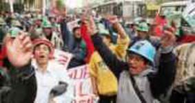 Bergarbeiterdemo in Lima