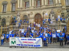 Telefonica-Streik nun auch in Bilbao