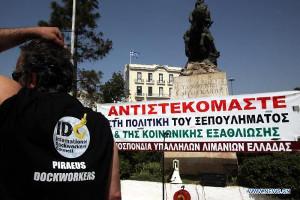 Griechische Hafenarbeiter Streikparole