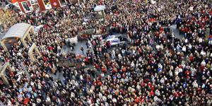 Demonstration für Mindestlohn in Island