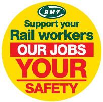 Streikplakat RMT: Britische Eisenbahner: Grösster Streik seit 20 Jahren?