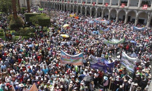 Streikdemonstration in Arequipa