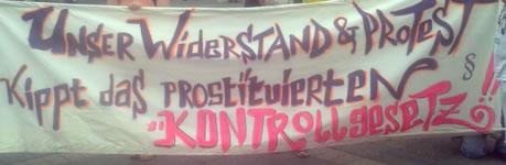 Protestaktion und Demo am 13. Juni 2015 in Frankfurt/Main gegen das Prostituiertenschutzgesetz und für die Rechte von Sexarbeiter/innen
