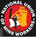 Das Logo der südafrikanischen Bergarveitergewerkschaft NUM