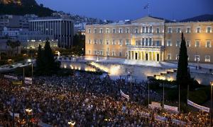 Pro Syrizademo am 19. Juni 2015 Athen