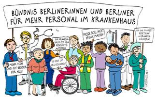 Bündnis Berlinerinnen und Berliner für mehr Personal im Krankenhaus