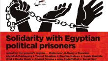 Kanadisches Soliplakat mit ägyptischen Gefangenen Juni 2015