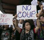 Protest gegen Thai-Junta im Mai 2015