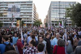 PAME gegen Privatisierung in Athen im Juni 2015