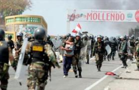 Polizeigewalt in Peru nutzt nichts im Mai 2015