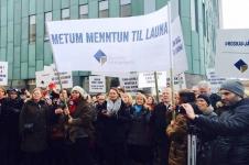 Streikbeginn Uniangestellte Island im April 2015