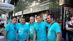 Streikende bei Telefonica Barcelona im Juni 2015