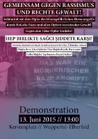 Gemeinsam gegen Rassismus und rechte Gewalt! Wuppertal, 13. Juni 2015
