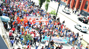 Generalstreikdemo ARequipa Südperu am 9.7.2015