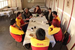 DHL GewerkschafterInnen in Chile im Mai 2014, Fotografin: Fresia Saldías