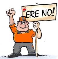 CGT Plakat gegen betriebliche Entlassungspläne