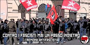 Antifaplakat aus Cremona Juni 2015