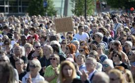 """Antirassistische Großdemonstration am 29. Juli 2015 in Helsinki gegen die """"wahren Finnen"""""""