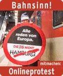 """Unterschriftenaktion """"Bahnsinn"""" von ROBIN WOOD"""