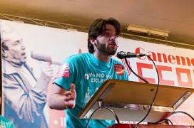 Celso Ventura einer der im Juli 2015 entlassenen Streikorganisatoren bei Telefonica