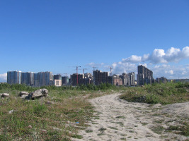 Neubausiedlung Petersburg: Die Löhne der zentralasiatischen Bauarbeiter waren im Juni 2015 noch nicht ausbezahlt