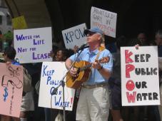 Protest gegen Wasserprivatisierung Pittsburgh Juli 2015