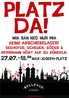 Platz da! Mia san ned nur mia! Antirassistische Demo in München am 27. Juli 2015