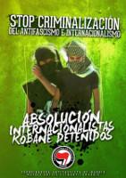 Soliplakat mit spanischen Anti-Isis-Brigadisten