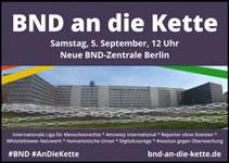 BND an die Kette – Demo am 5.9.2015: Kommen Sie zum Protest gegen Massenüberwachung!