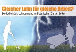 Niedriglohn im botanischen Garten der Freien Universität Berlin