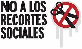 Keine sozialen Kürzungen -  früher waren auch in Spanien die Gewerkschaften über solche Forderungen einig - im August 2015 schon lange nicht mehr