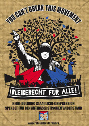 Rote Hilfe: You can't break this movement! Beliberecht für alle!